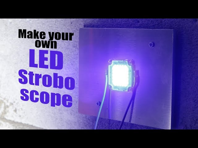 Make your own LED Stroboscope (for a safety system)