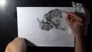 LOL pencil drawing - Rengar