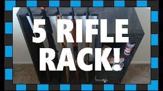How to build a rifle rack! In this video I will show you how to build your own rifle rack perfect for airsoft, air or even real rifles! The