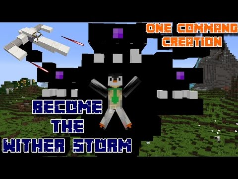BECOME THE WITHER STORM also there's an X-WING | One Command Block Creation: Minecraft