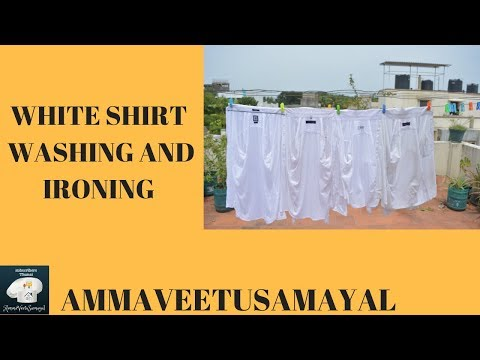 How To Wash White shirt In Home In Tamil |Washing And Ironing Process | Home Tips And tricks