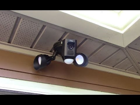 Ring Floodlight Cam Hack - Mounting Horizontal Under An Eave or Overhang