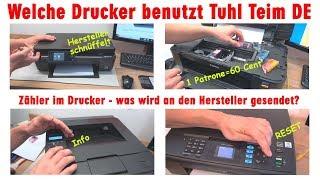 Die Drucker von Tuhl Teim DE - Unerhörter Originaltonerpreis vs. 60 Cent Tintenpatronen