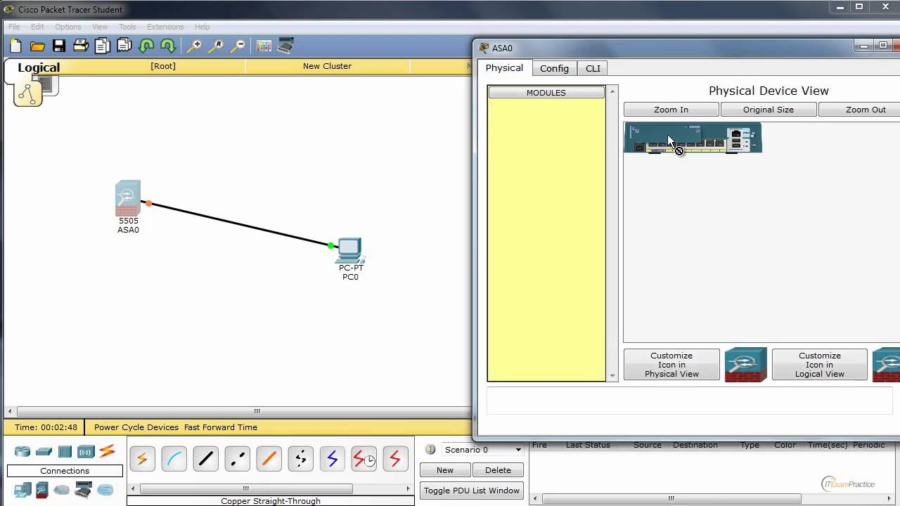 ASA 5505 in Cisco Packet Tracer 6 1 - first look at new features