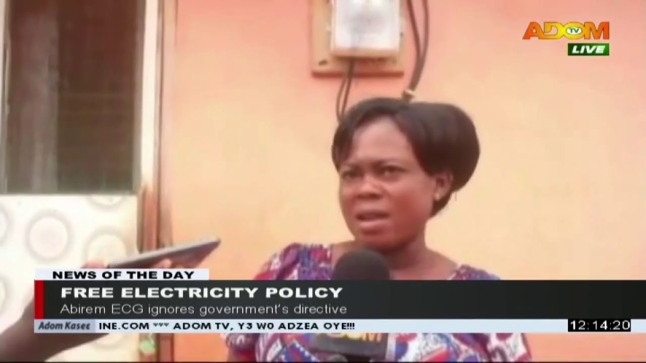 Free Electricity Policy Premotobre Kasee On Adom Tv 25 7 20 Youtube