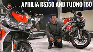 aprilia RS150 and Tuono 150  Auto Expo 2018