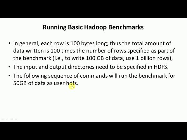 Running Basic Hadoop Benchmarks - Big Data Analytics Tutorial by Mahesh Huddar