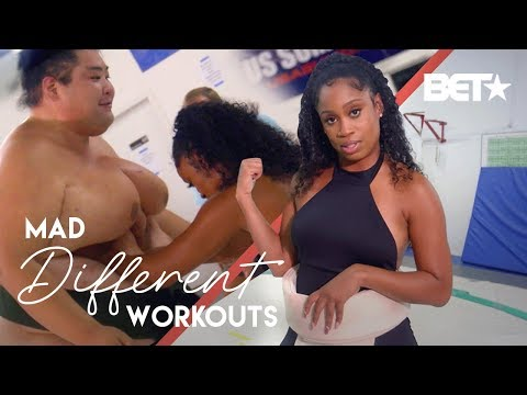 Viral Fitness Sensation Capri Curves & A Sumo Wrestler Go Toe To Toe | Mad Different Workouts
