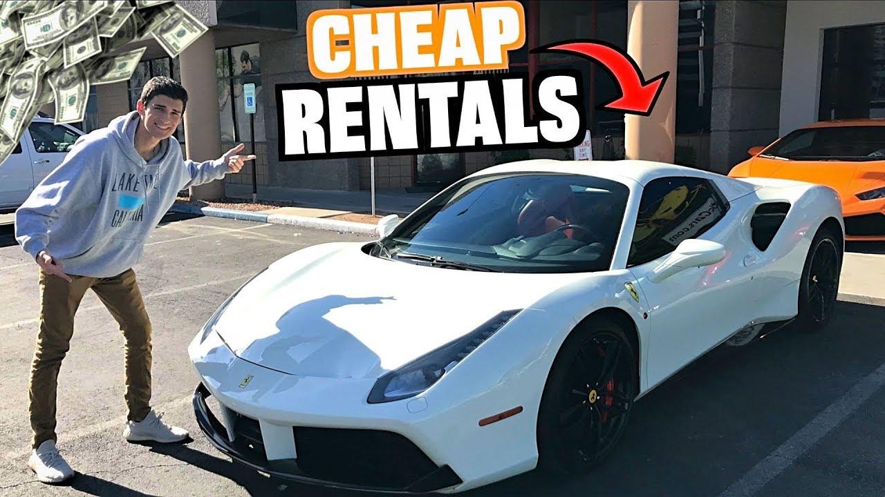 We Rented Budget Supercars In Las Vegas Royalty Ferrari 488 Lambo Youtube