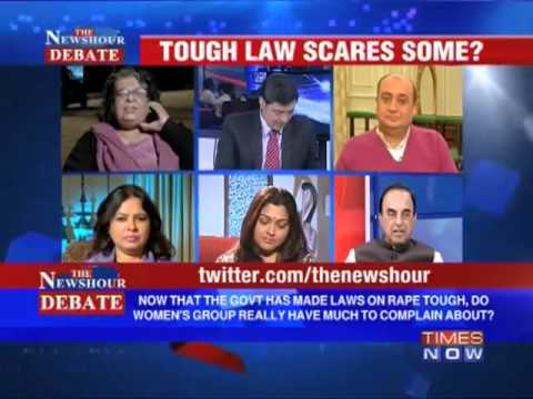 Part 2/2 - Dr Subramanian Swamy in Times Now Debate - Tough law scares some
