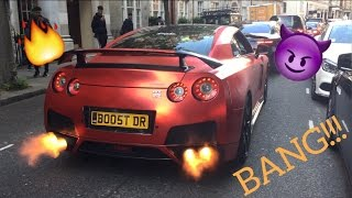 Nissan GTR tearing up London!!! and Supercars