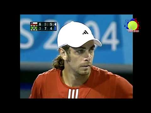 Nicolás Massú vs Gustavo Kuerten - Athens 2004 1R (Match Point)