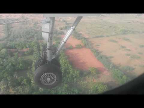 Beautyfull flight landing in Madurai TN. INDIA