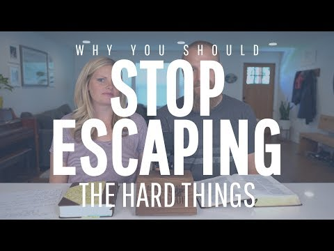 Stop Escaping The Hard Things In Your Marriage