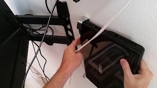 Setting up a laptop to be a HTPC and mounting it to the wall behind the TV