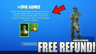 How To REFUND Toy Trooper AND Plastic Patroller For FREE in Fortnite..