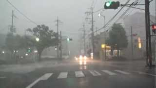 京都を襲った猛烈なゲリラ豪雨・ダウンバースト・雷 2012.9.6 thumbnail