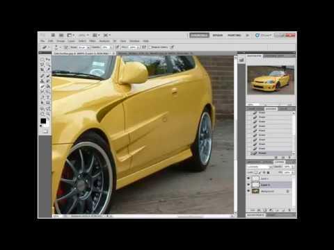 วิธีแต่งรถด้วย Photoshop cs5