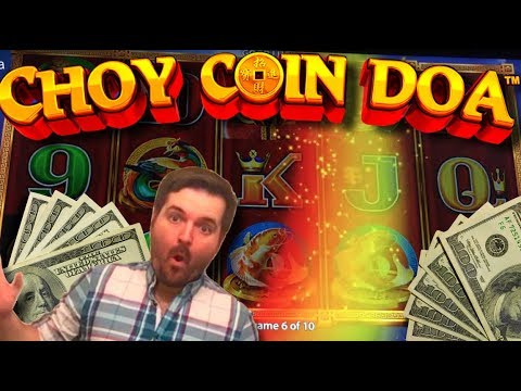 HUGE WIN! HAVE YOU EVER GOTTEN THE RAINBOW ON Choy Coin Doa Slot Machine? SLOT MACHINE BONUSES! - 동영상