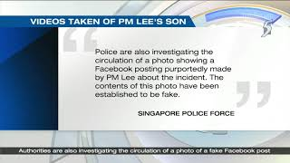 Police report made after private car driver took videos of PM Lee Hsien Loong's son