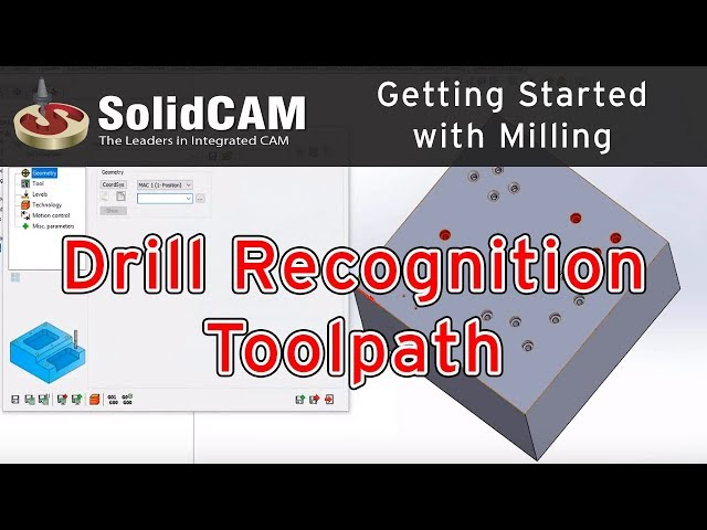 SolidCAM - Drill Recognition