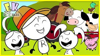 Nursery Rhymes for Kids - Sing Old MacDonald + Learn Farm Animals