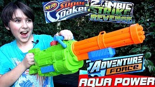Minigun Water Gun and the Nerf N-Strike Revenge