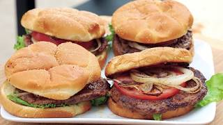 Grilled Onion Topped Burger