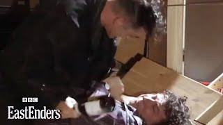 Nigel fights evil Liam for Debbie - EastEnders - BBC