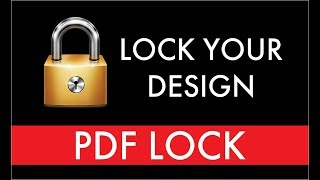 Coreldraw tutorial How To create a security lock pdf file