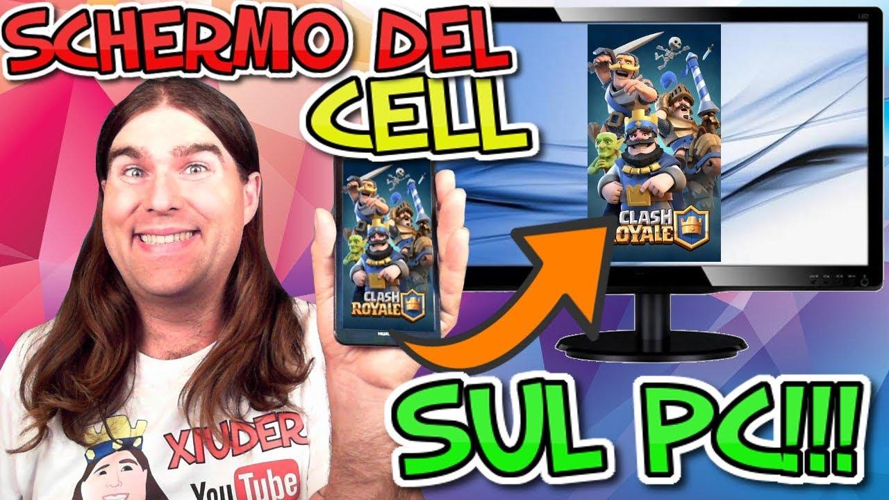 COME TRASMETTERE LO SCHERMO DEL CELLULARE SUL PC ...