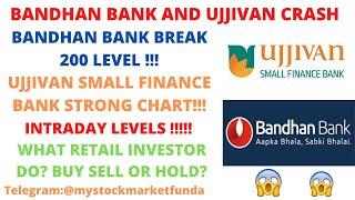 BANDHAN BANK SHARE LATEST NEWS | BANDHAN BANK BREAK 190 LEVEL| UJJIVAN SMALL FINANCE  STRONG SUPPORT