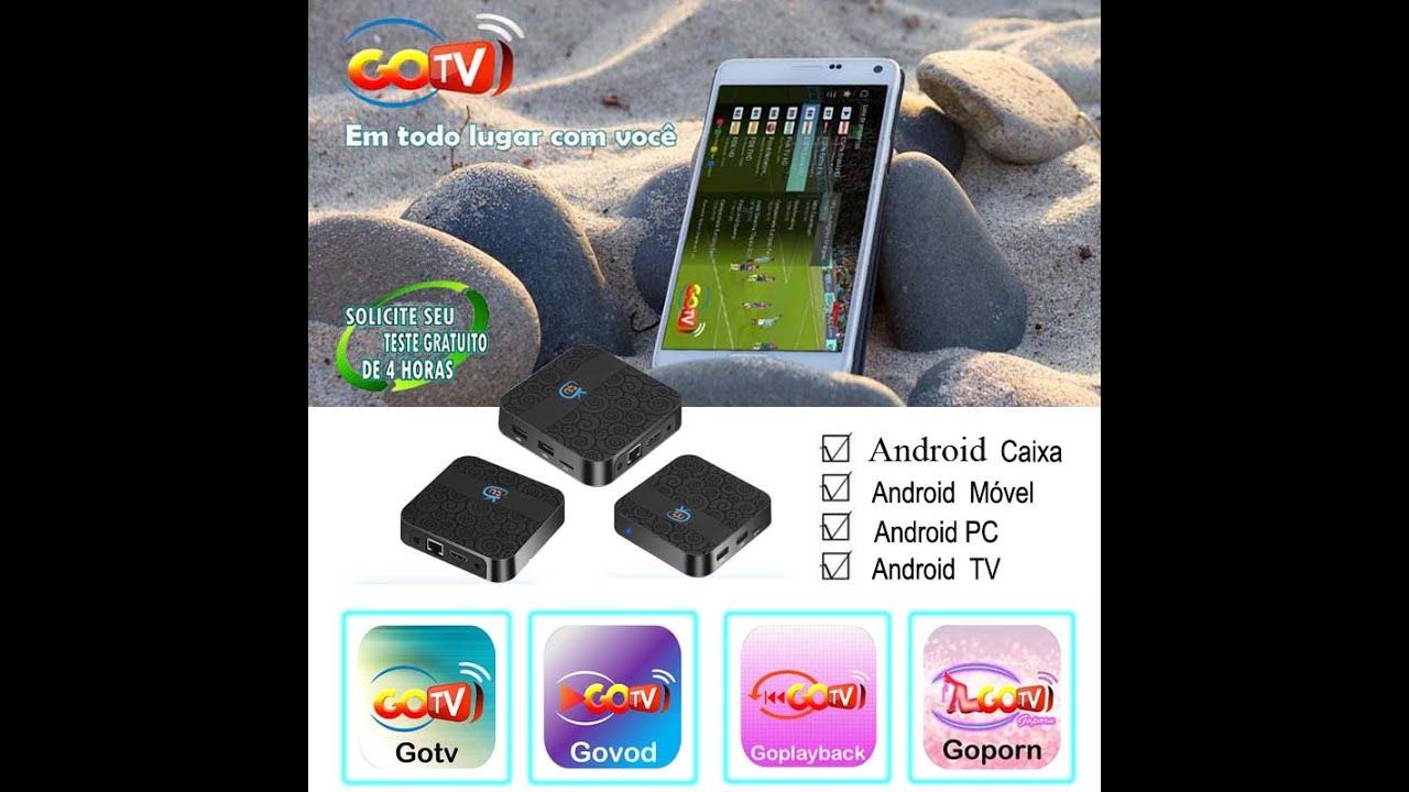 TV BOX GOTV, e APLICATIVO GOTV BRASIL ORIGINAL