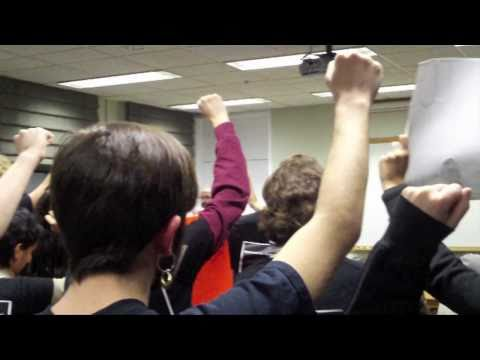 University of Massachusetts, Amherst -- IDF soldier protest -- December 2nd, 2010
