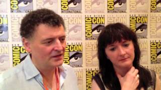 Doctor Who   Steven Moffat And Caroline Skinner at Comic Con