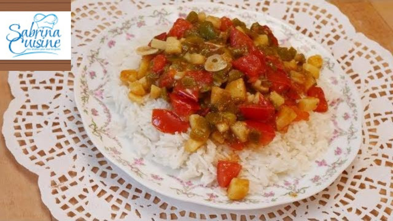 وجبة عشاء سهلة و سريعة تحضر في 10 دقائق   رز بالخضار من اروع مايكون  sabrina cuisine