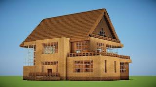 Minecraft Tutorial: Casa Grande de Madeira para Início de