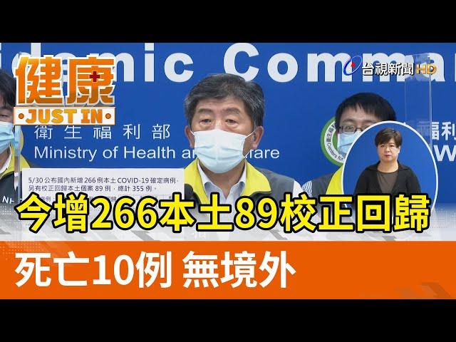 今增266本土89校正回歸 死亡10例 無境外【健康資訊】
