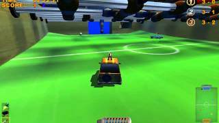 Mad Tracks PC Gameplay - Football/Soccer Mode