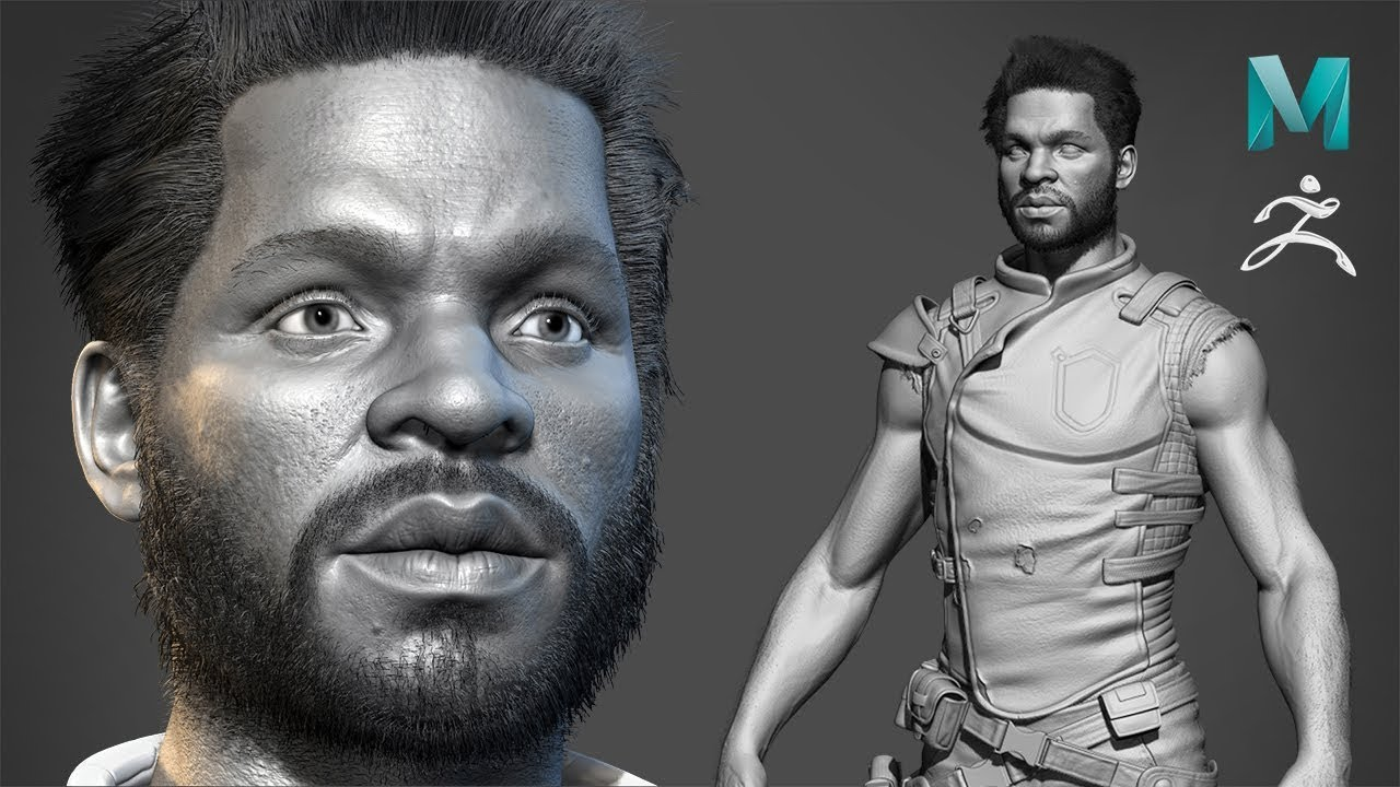 Realistic Character Modeling for Game in Maya & Zbrush - Part03