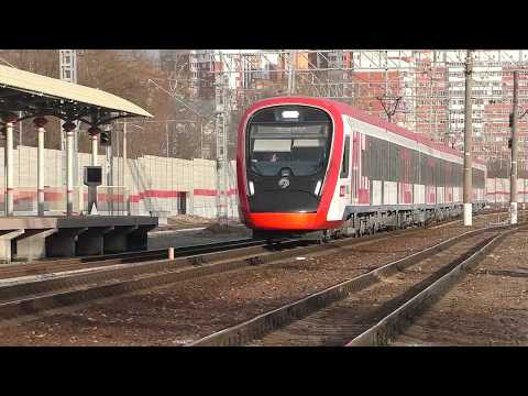 """Прибытие электропоезда ЭГ2Тв-028 """"Иволга 2.0"""" (ТЧ-50) скорый приг. поезд №7251 Лобня - Одинцово."""