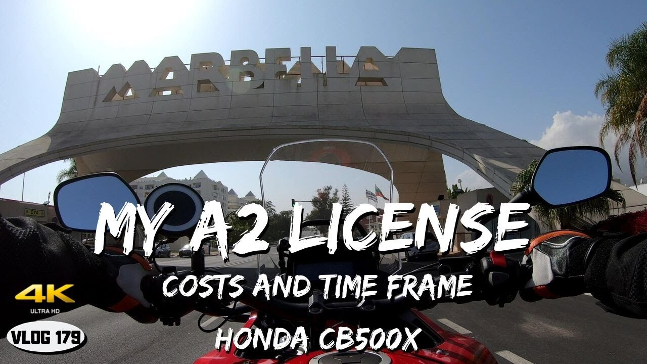 Ride on Honda CB500X (2019) - A2 Driving License in Spain (Time frame, costs) - VLOG179 [4K]