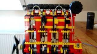 large 4 cylinder crosshead Lego marine engine with camshaft