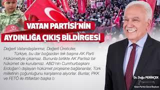 Vatan Partisi'nin Aydınlığa Çıkış Bildirgesi