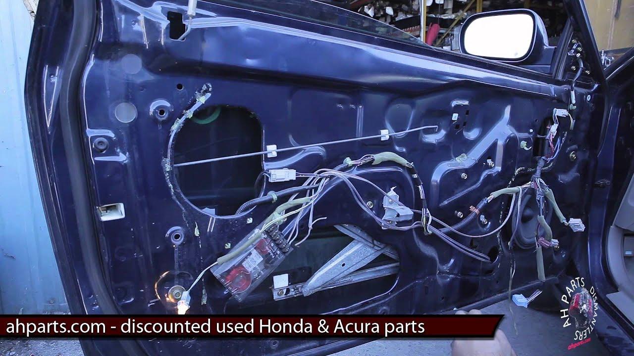 Part2 How To Fix Replace Install Broken Window Regulator Motor Honda Accord  2001 2002 Youtube