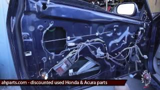 Part2 How to fix replace install broken window regulator motor Honda Accord 1998 1999 2000 2001 2002