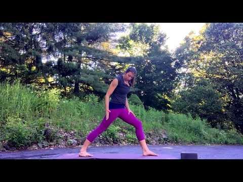Sun Salutation B in Yoga with healthy body mechanics