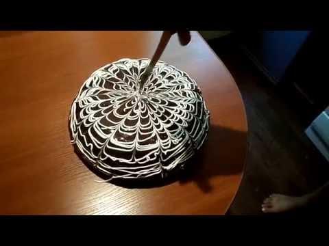 Украшение тортов   Украшение торта на день рождение розами из крема пошагово за 5 минут
