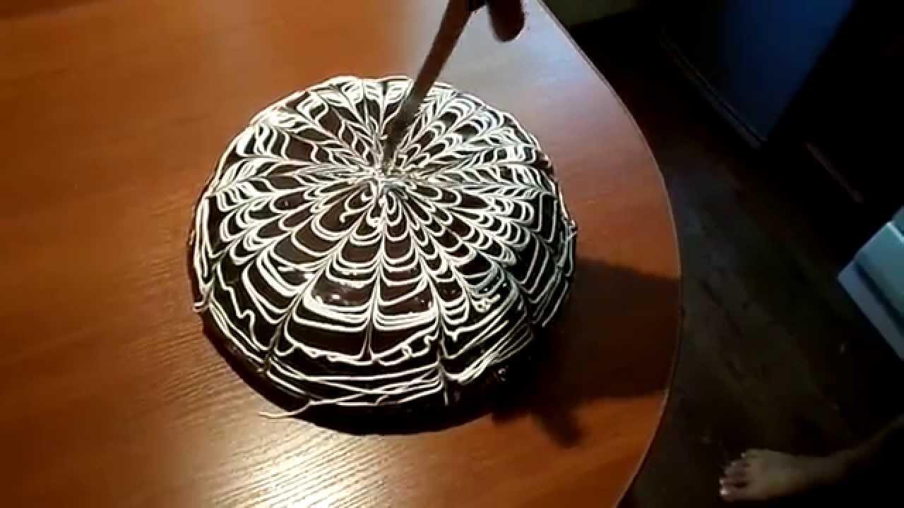 Как украсить торт в домашних условиях - YouTube