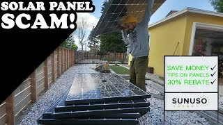 Solar Panel Scam!(HOW TO SAVE MONEY)